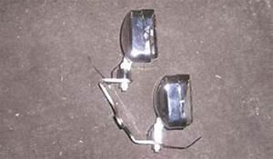 Dual Chrome Rectangular Headlight Motorcycle Trike Chopper Bobber