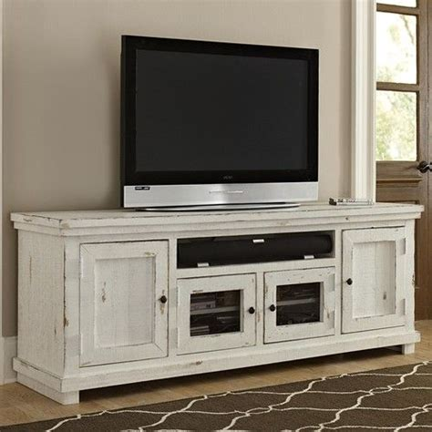 progressive furniture willow large distressed pine media console miskelly furniture tv