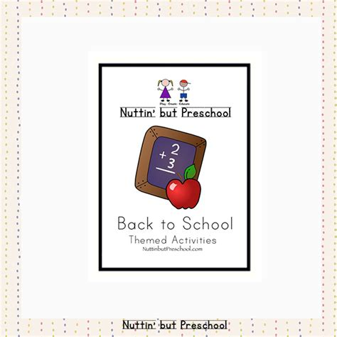 back to school lesson plan theme nuttin but preschool 593 | Back to School Preschool Lesson Plan Theme Unit Activities For Fall