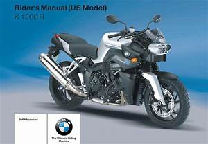 Bmw K 1200 R 3rd  Us  2006 Owner U2019s Manual  U2013 Pdf Download
