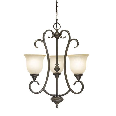 chandelier shades home depot hton bay 5 light rubbed