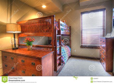 kids bedroom bunk bed stock image image  common