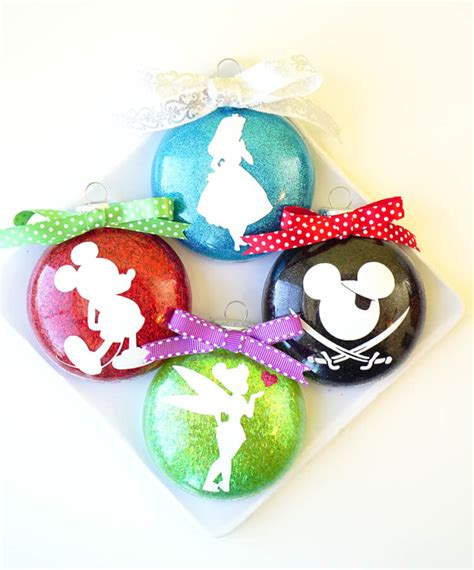 disney glitter christmas ornaments happiness is homemade