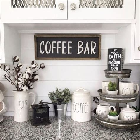 Decorating Ideas For Kitchen Bar by Diy Coffee Bar Ideas Stunning Farmhouse Style Beverage