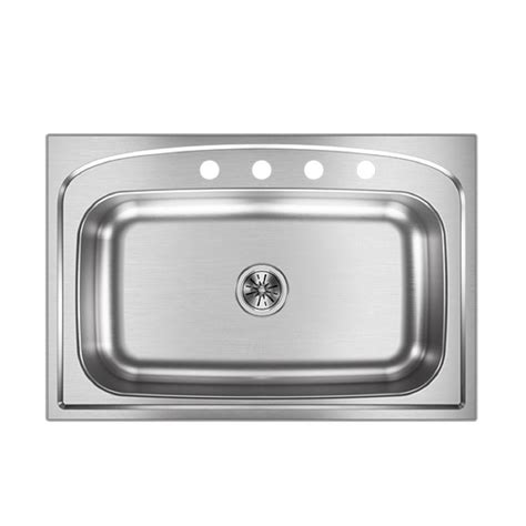 stainless steel single bowl drop in kitchen sinks elkay pergola drop in stainless steel 33 in 4 single 9897