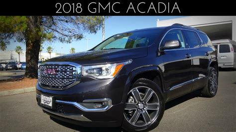 gmc acadia denali review test drive    youtube