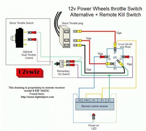 12v power wheels throttle switch alternative remote kill