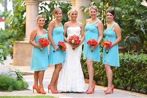 Turquoise and orange wedding. was having a hard time ...
