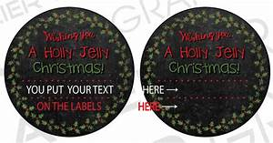 editable christmas canning labels fruit jelly mason jar labels With christmas canning labels