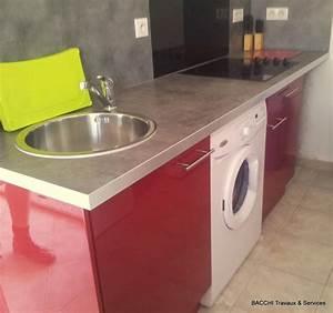 plan de travail cuisine rouge cuisine rouge plan de With exceptional meuble de cuisine en bois rouge 4 petit ilot central de cuisine cuisine en image