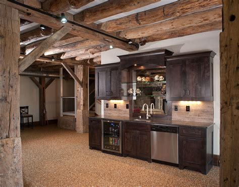 Rustic Bar Ideas by Best Home Bar Pictures Basement Rustic Basement