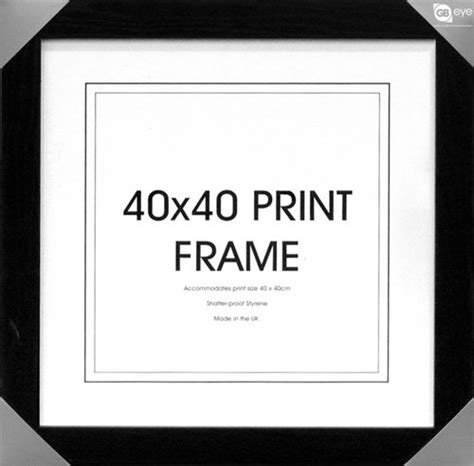 cadre photo 40 x 40 cm cadre 40x 40 boutique silver