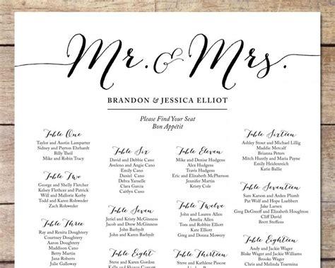 Simple Wedding Seating Chart, Romantic Wedding