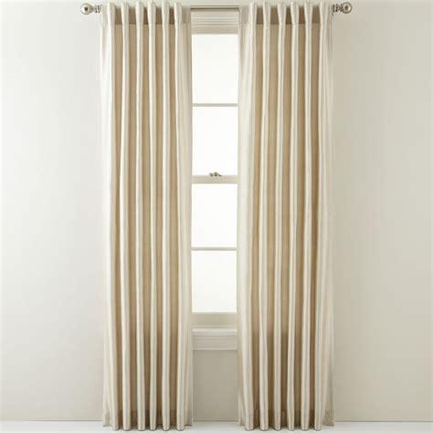 jcpenney silk drapes jcpenney royal velvet 174 silk pinstripe back tab curtain