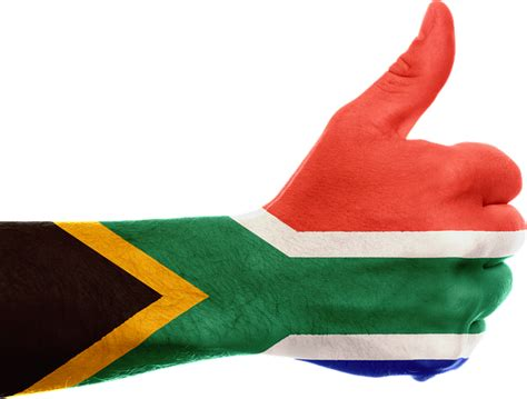 illustration south africa flag hand thumbs
