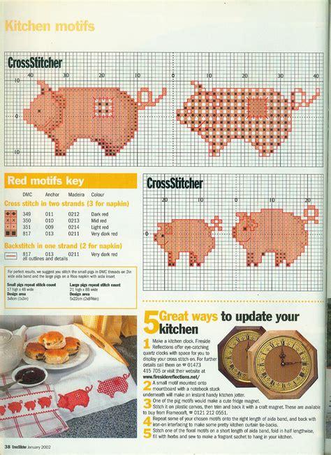 grille de cuisine grille de point de croix cochon pour la maison cuisine