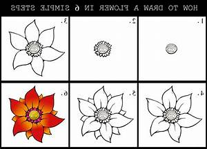 Flower Step By Step - Drawing Art Library