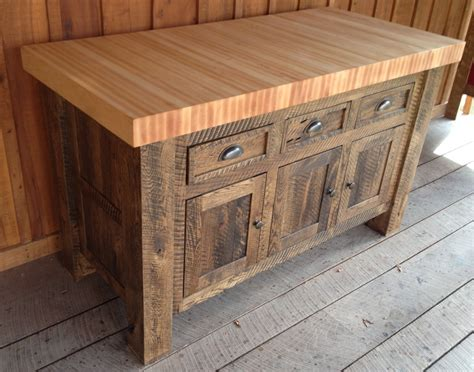 movable kitchen island designs vintage unfinished wooden butcher block island cart with