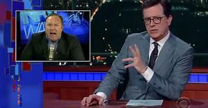 See Stephen Colbert Spoof 'Insane Radio Host' Alex Jones ...