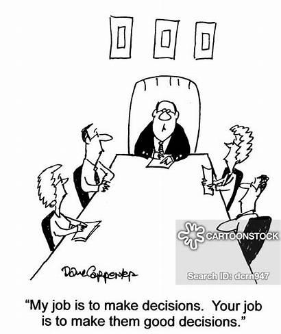 Decision Cartoons Bad Legal Cartoon Executive Funny