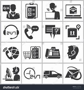 Customer Service Icons Call Center Icons Stock Vector ...