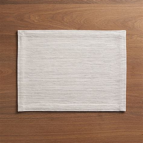 grasscloth white placemat crate  barrel