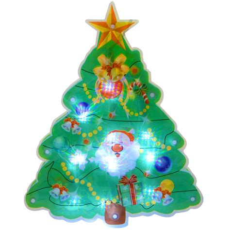pvc light up christmas silhouette window suction