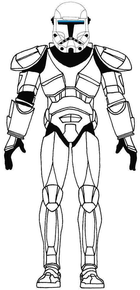 Clone Trooper Kleurplaat by Clone Commando Standard 2 Royal Guard Wars