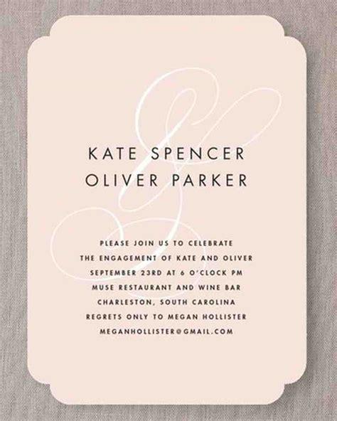 engagement party invitations martha stewart weddings