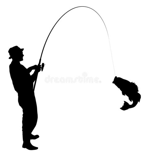 fisherman silhouette vector fishing silhouette stock vector illustration of catch