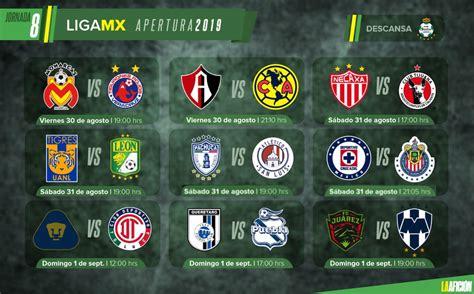 Partidos, fechas, horarios y dónde ver la Liga MX; Jornada 8