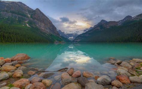 blue lake louise hamlet  alberta canada banff national