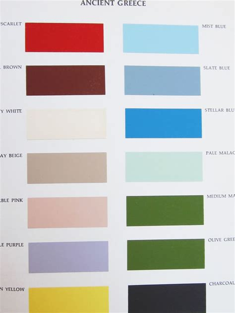 paint color ancient palette ancient greece from color for interiors by faber