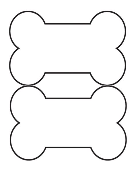 dog bone stencil    clipartmag