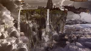 Floating City Fantasy Art HD Wallpaper Wallpaper Studio