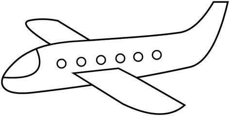 Coloring Airplane by Simple Airplane Coloring Pages Search