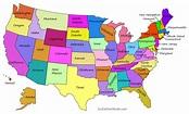 Printable Usa Map Of States