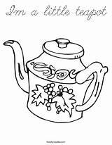 Coloring Teapot Little Cursive Print Ll sketch template