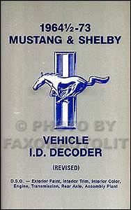 1969 Ford Mustang Shelby Repair Shop Manual Supplement