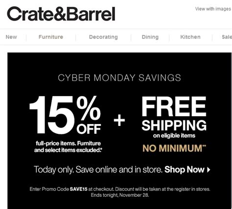 Check spelling or type a new query. 30% Off Crate & Barrel Coupon Code   Save $20 in Dec w/ Promo Code