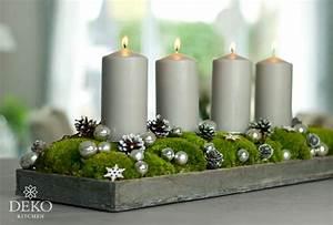 Adventskranz Länglich Selber Machen : diy h bscher l nglicher adventskranz mit moos und kugeln deko kitchen ~ Eleganceandgraceweddings.com Haus und Dekorationen
