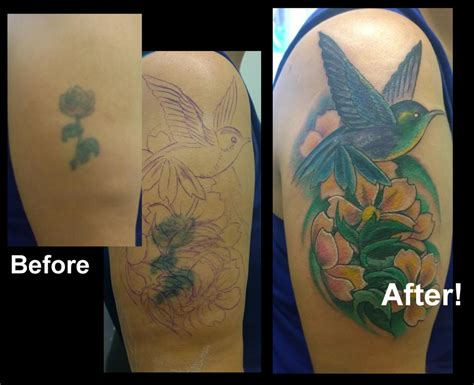 Hummingbird Cover Up Tattoo by Jolly Octopus Tattoos Realistic Hummingbird And