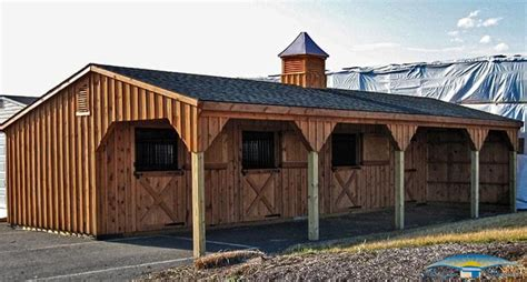 12x24 Shed Row Horse Barn