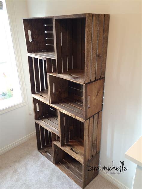 creative diy wood crate storage ideas