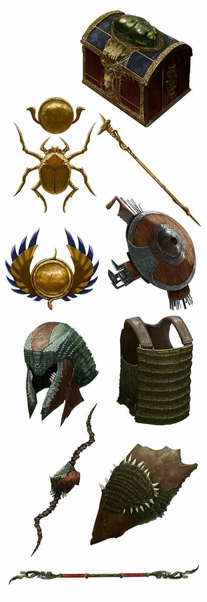 Fantasy Items Weapons Magic Rpg Concept Desert