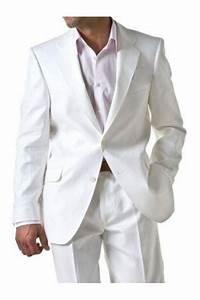 Costume Homme Mariage Blanc : costume pour homme en lin blanc costume blanc kebello ~ Farleysfitness.com Idées de Décoration