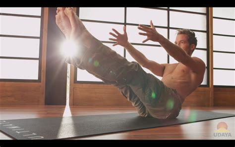 Boat Pose Twist by A Sequence To Work Your Mindbodygreen