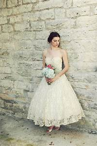 Vintage wedding dress bridal gown inspiration from etsy for 1950s tea length wedding dress