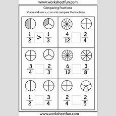 Comparing Fractions Worksheets  3rd Grade #math #school  Best Of Third Grade Comparing