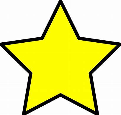 Objects Yellow Clipart Star Vector Cliparts Shape